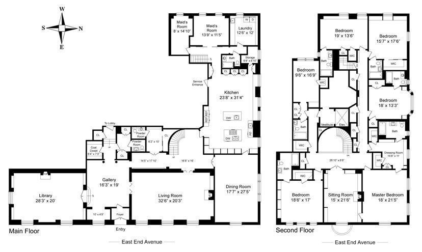 Midweek Floor Plan Porn 120 East End Avenue Variety