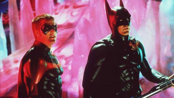 """Chris O'Donnell and George Clooney in """"Batman & Robin."""""""