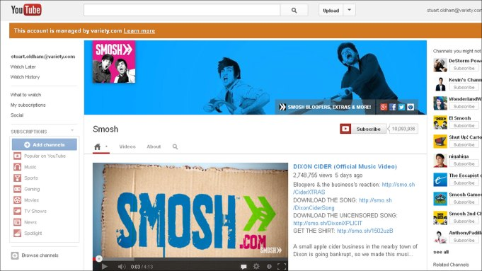 Top YouTube Channel Smosh Eyes Jump