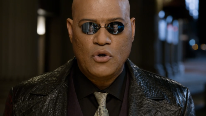 Laurence Fishburne reprising role from 'The