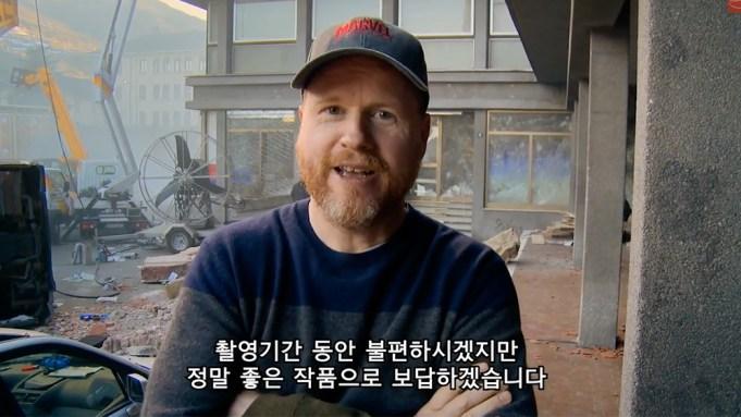 Joss Whedon Avengers Filming Seoul
