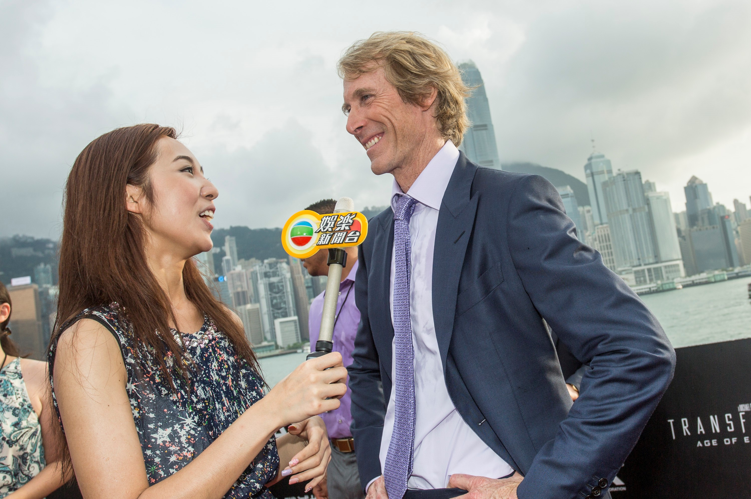 Michael Bay at the Hong Kong premiere of 'Transformers: Age of Extinction'