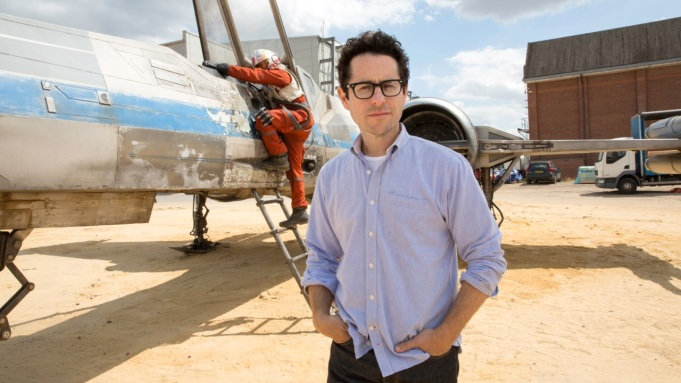 J.J. Abrams shows off X-Wing fighter