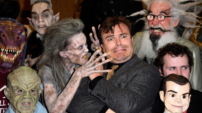 """Jack Black at Sony's """"Goosebumps"""" and"""