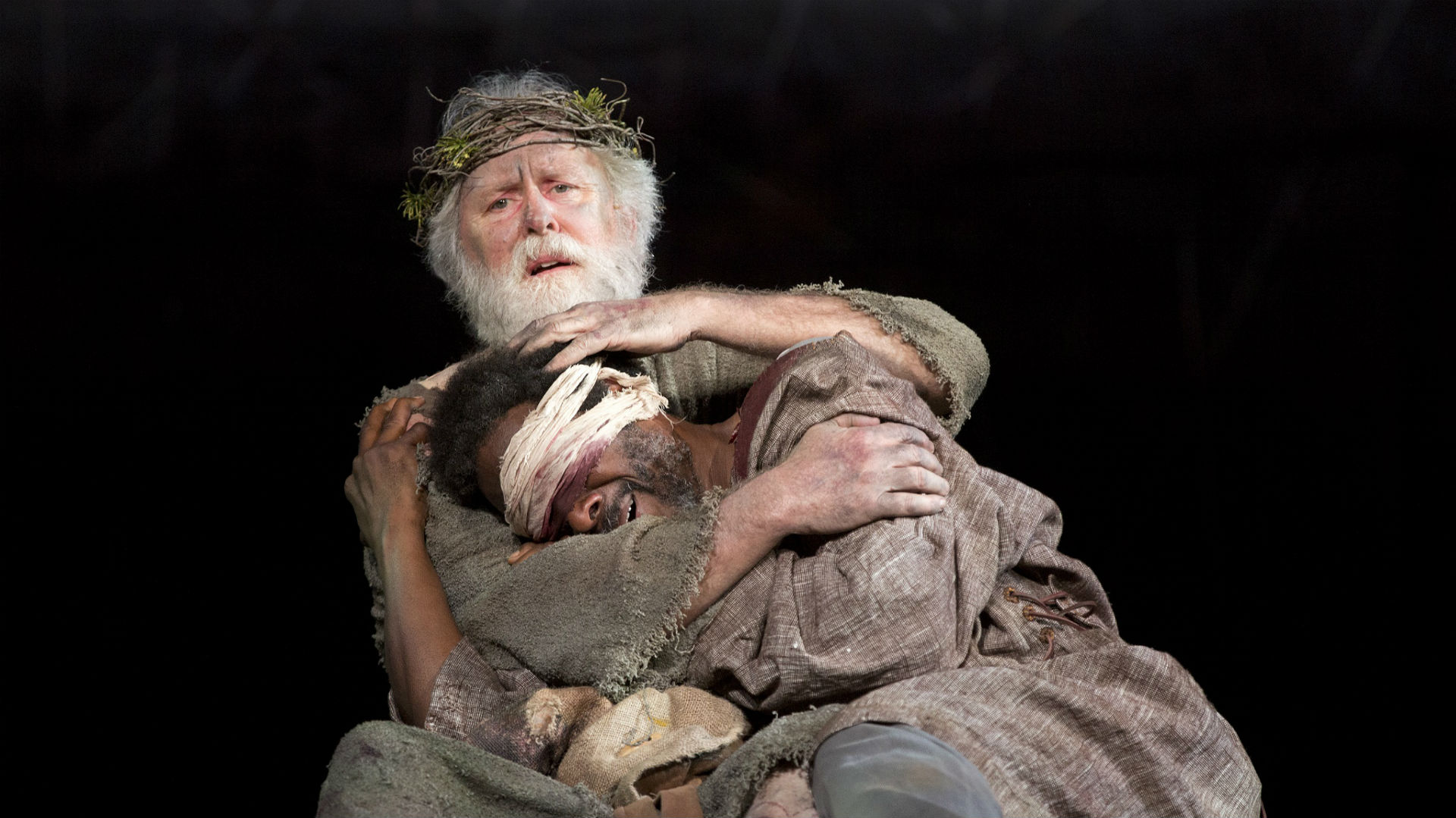 John Lithgow as King Lear from Hamlet