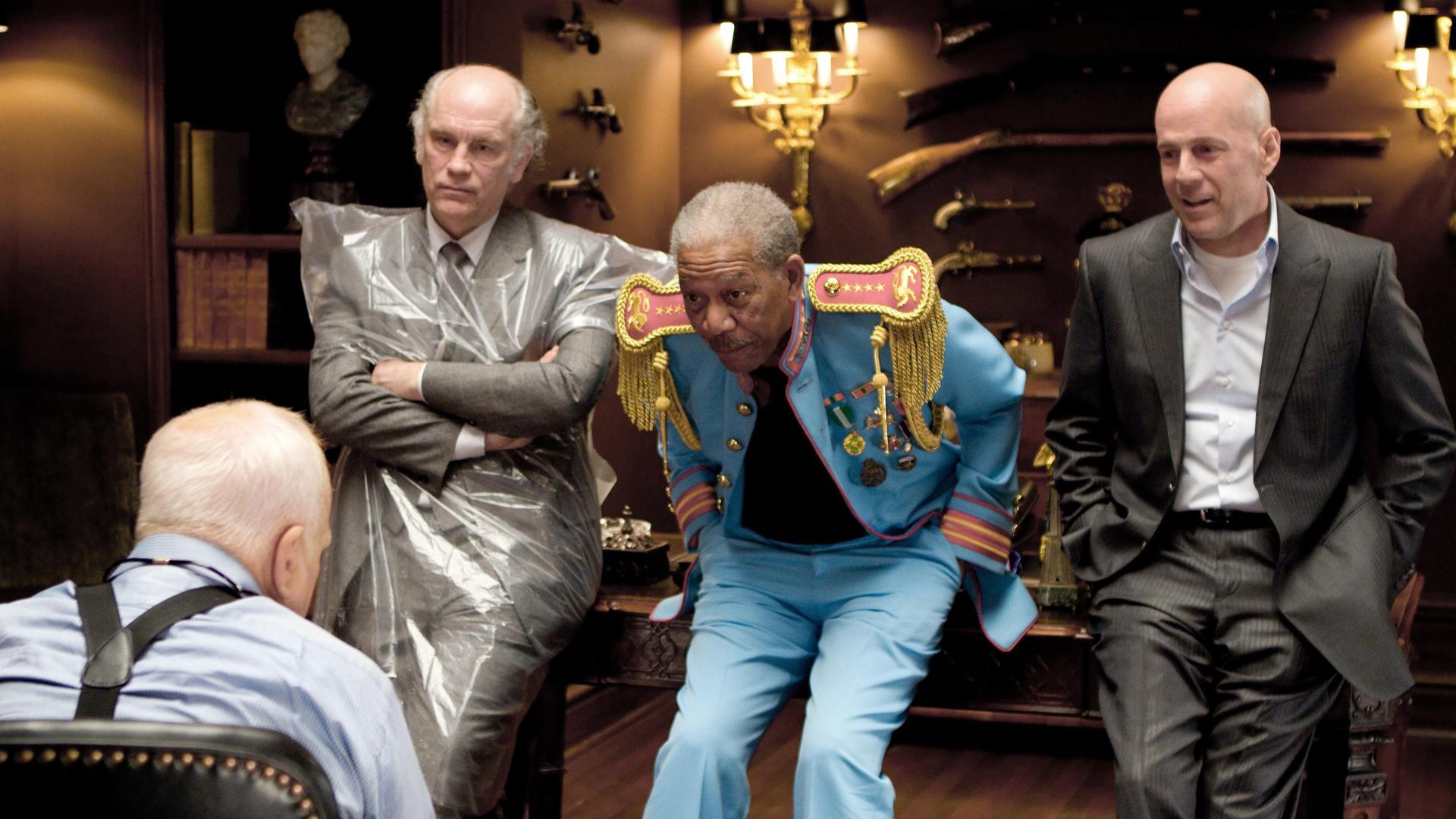 John Malkovich, Morgan Freeman and Bruce Willis in Red