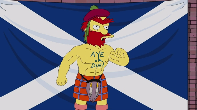 Groundskeeper Willie Scotish Independence The Spimpsons