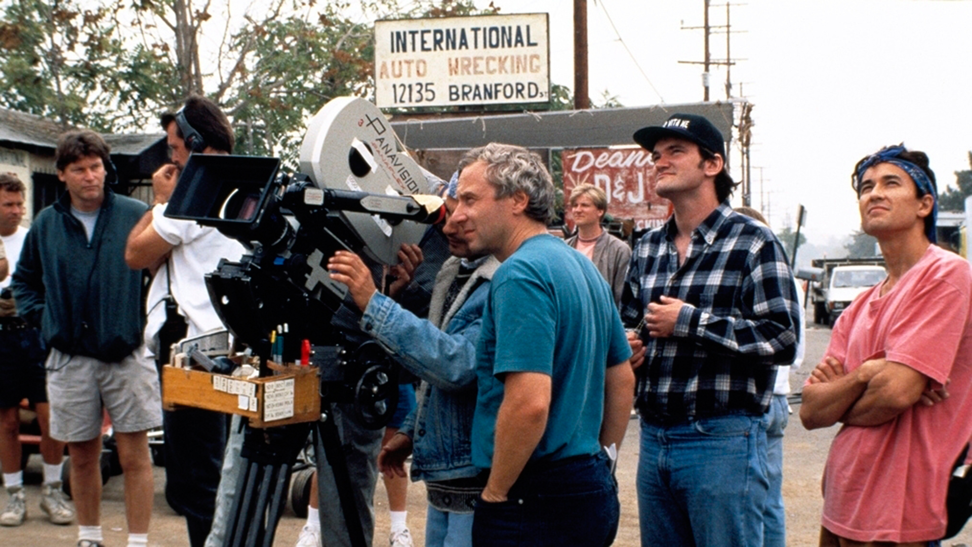 Pulp Fiction cinematographer Andrzej Sekula with Quentin Tarantino