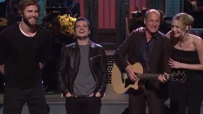 'SNL': 'The Hunger Games' Cast Crashes