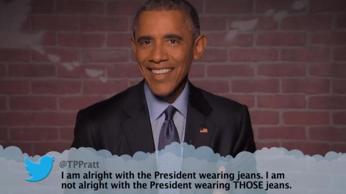 Obama Mean Tweets on Jimmy Kimmel