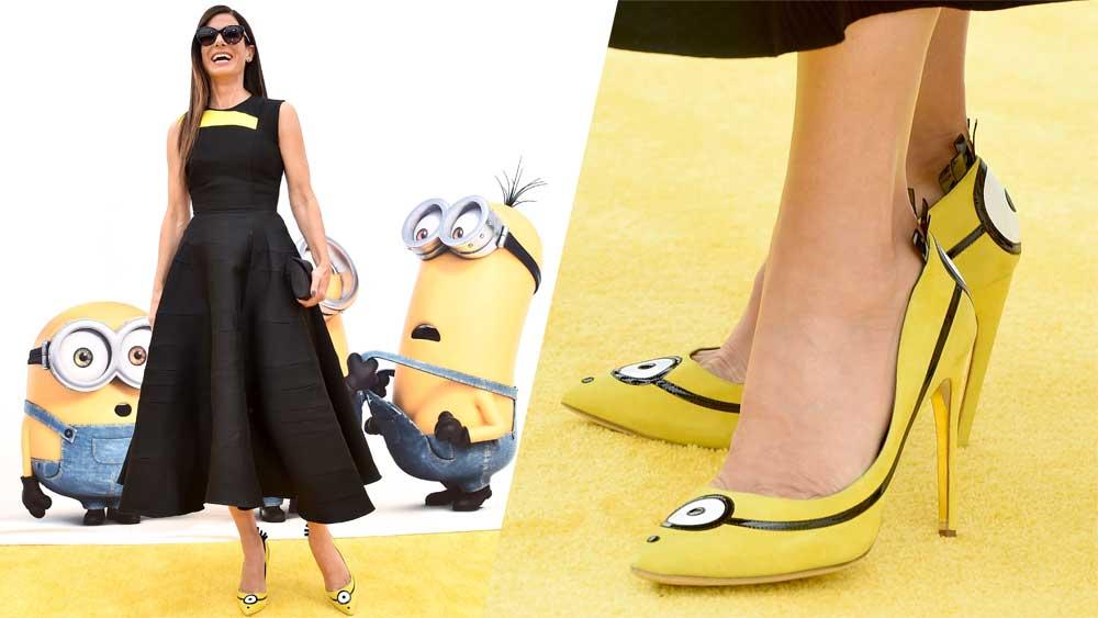 Sandra Bullock Minions shoes
