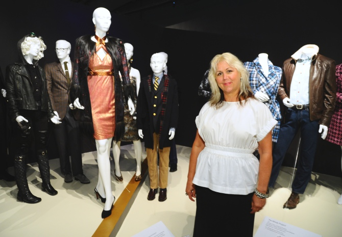 "Lisa Padovani, costume designer of ""Gotham"" seen at The 9th Annual Outstanding Art of Television Costume Design Exhibition opening at the FIDM Museum & Galleries on the Park on Saturday, July 18, 2015, in Los Angeles. The Television Academy and FIDM Museum honored this year's Emmy(R) Award winners in Outstanding Costume Design at the opening reception for this annual special exhibition. (Photo by Vince Bucci/Invision for the Television Academy/AP Images)"