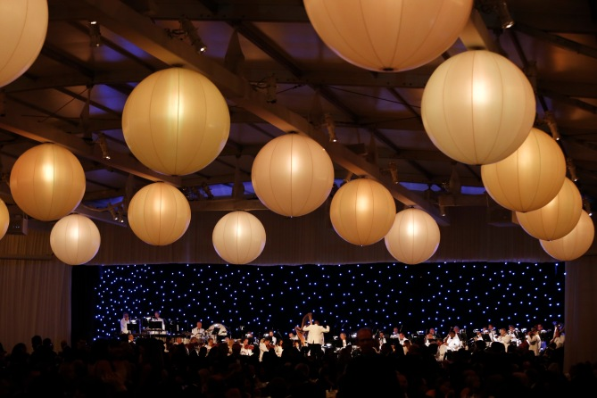The 50 piece orchestra during the Inaugural Dinner for the opening of The Broad Museum on Thursday, September 17, 2015, in Los Angeles, Calif. (Photo by Nicholas Gingold/Capture Imaging)
