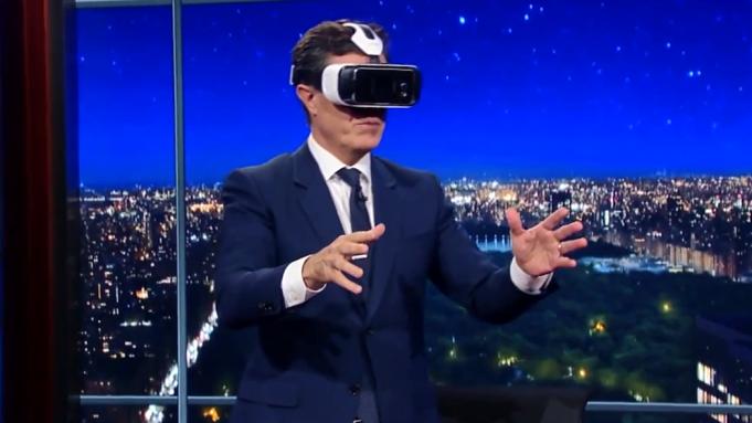 Stephen Colbert virtual reality VR CNN