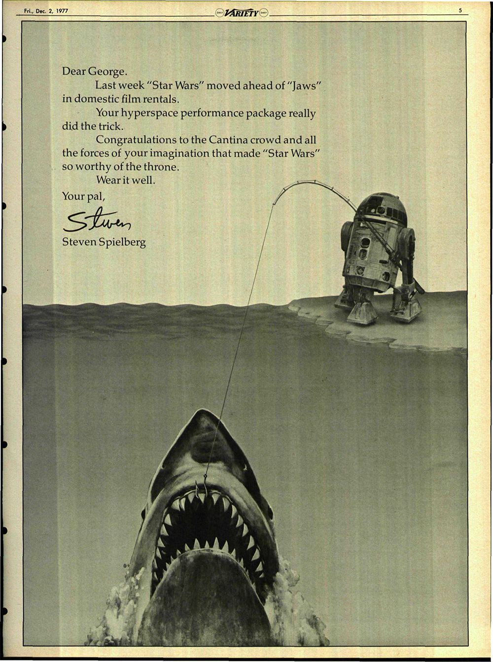 Vintage Star Wars Advertisement