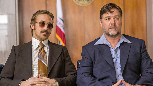 <p><strong>May 20</strong></p> <p>Russell Crowe and Ryan Gosling play investigators of the suicide of a porn star in 1970s Los Angeles in this movie written and directed by Shane Black.</p>