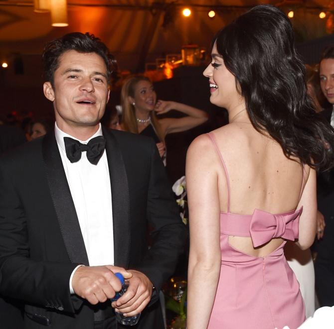 Orlando Bloom and Katy Perry at the Weinstein/Netflix party