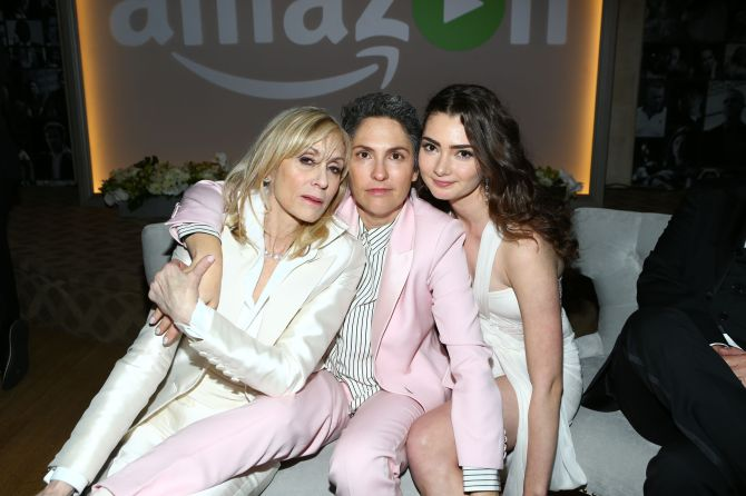 Mandatory Credit: Photo by Katie Jones/WWD/REX/Shutterstock (5528401f) Judith Light, Jill Soloway and Emily Robinson Amazon Golden Globe After Party, Los Angeles, America - 10 Jan 2016