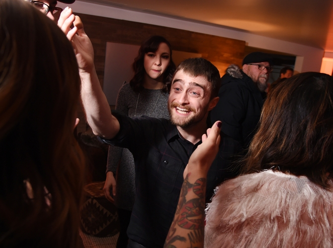 """Daniel Radcliffe also attended the """"Swiss Army Man"""" film premiere after-party at the Acura Lounge."""