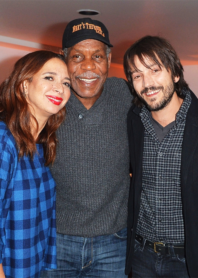 <p>Maya Rudolph, Danny Glover and Diego Luna at 'Mr Pig' film premiere after-party atAcura Studio.</p>