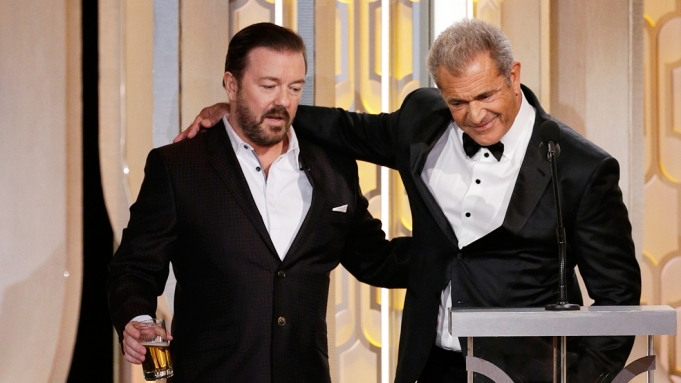 Mel Gibson and Ricky Gervais' Awkward