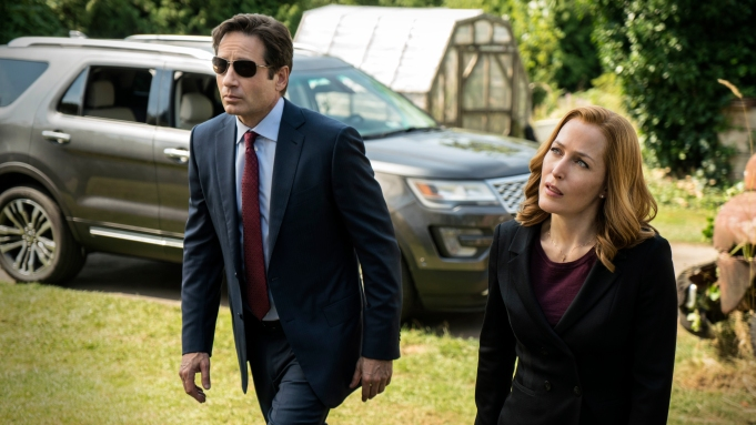 The X-Files: Gillian Anderson and David