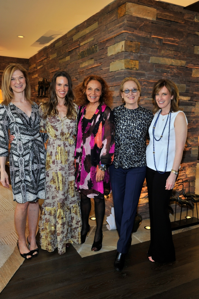 attends the Diane Von Furstenberg Oscar Nominee Luncheon on February 18, 2015 in Beverly Hills, California.