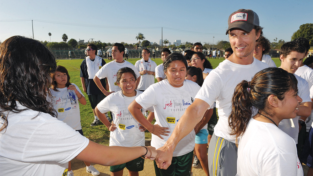 Matthew McConaughey Pays It Forward With Just Keep Livin Foundation
