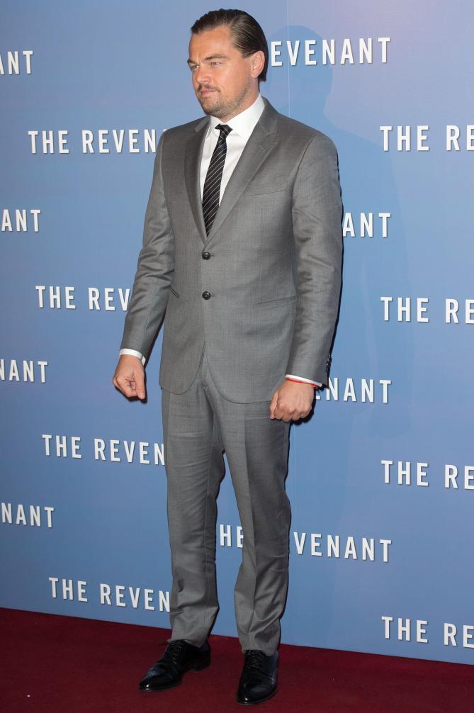 Mandatory Credit: Photo by VILLARD/SIPA/REX/Shutterstock (5548435g) Leonardo DiCaprio 'The Revenant' film premiere, Paris, France - 18 Jan 2016