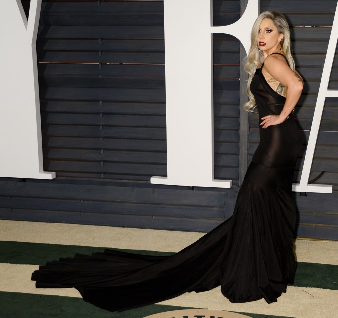 Mandatory Credit: Photo by Broadimage/REX/Shutterstock (4448583no) Lady Gaga 87th Academy Awards, Oscars, Vanity Fair After Party, Los Angeles, America - 22 Feb 2015 WEARING 2015 Vanity Fair Oscar Party Hosted By Graydon Carter - Arrivals AZZEDINE ALAIA