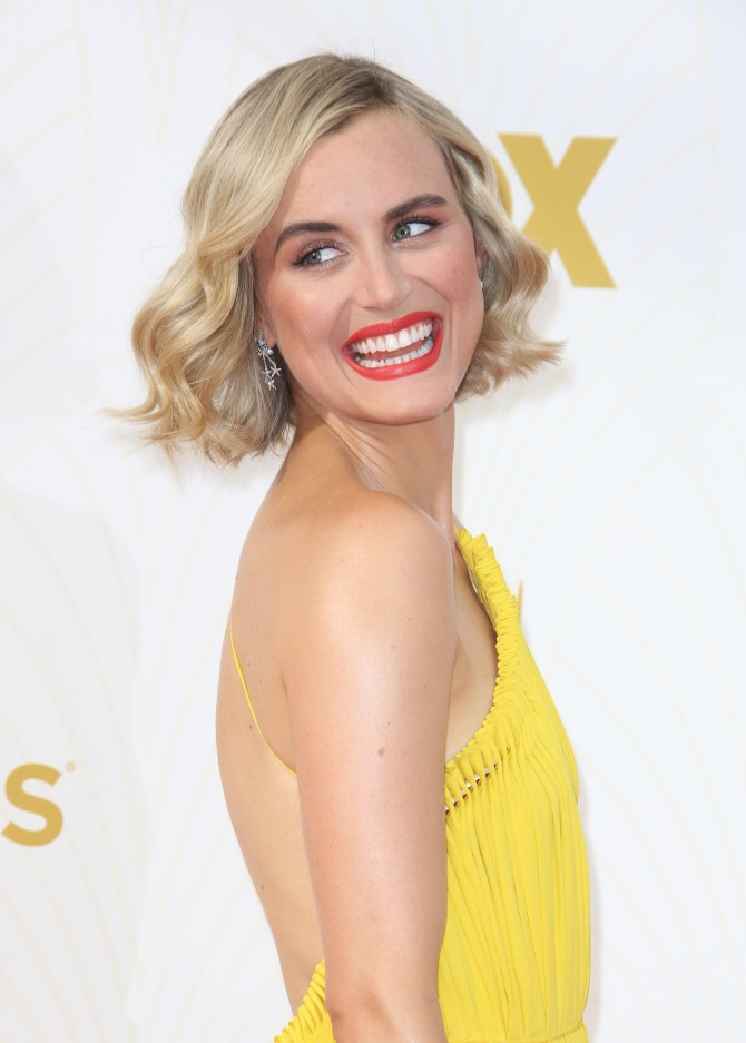 Mandatory Credit: Photo by Matt Baron/BEI/Shutterstock (5125627nn) Taylor Schilling 67th Primetime Emmy Awards, Arrivals, Los Angeles, America - 20 Sep 2015