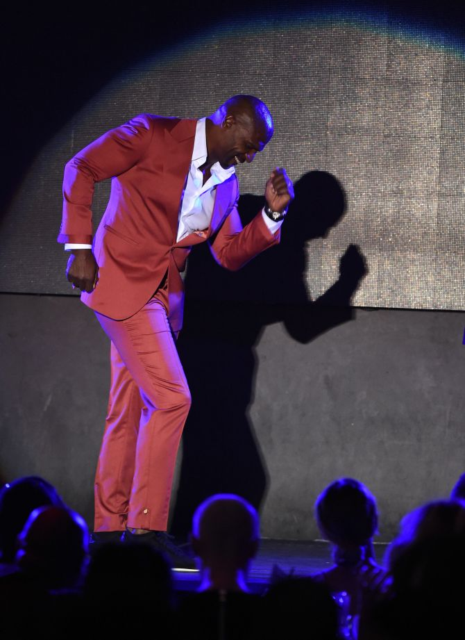 Mandatory Credit: Photo by Buckner/Variety/REX/Shutterstock (5593902co) Terry Crews All Def Movie Awards, Los Angeles, America - 24 Feb 2016 First Annual All Def Movie Awards Celebrating Diversity and Entertainment Broadcast on Fusion Feb 28 @ 7pm