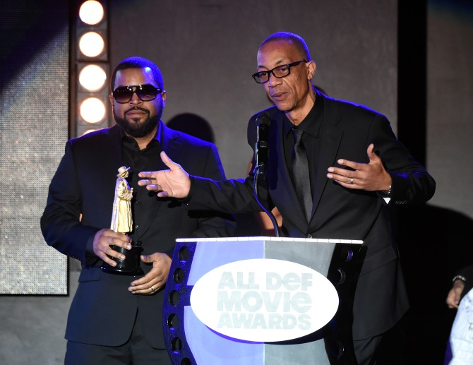 Mandatory Credit: Photo by Buckner/Variety/REX/Shutterstock (5593902fh) Ice Cube and DJ Pooh All Def Movie Awards, Los Angeles, America - 24 Feb 2016