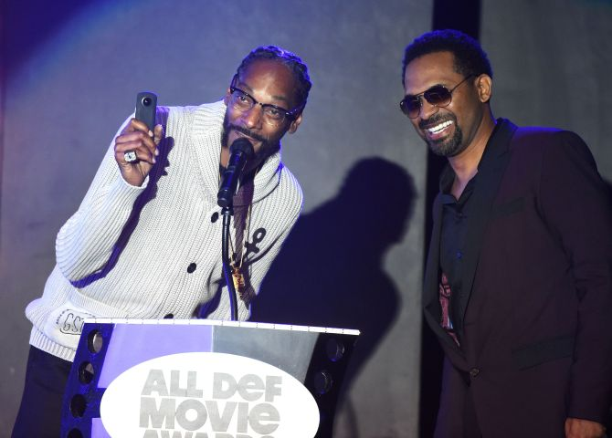 Mandatory Credit: Photo by Buckner/Variety/REX/Shutterstock (5593902fl) Snoop Dogg and Mike Epps All Def Movie Awards, Los Angeles, America - 24 Feb 2016