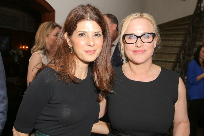 Mandatory Credit: Photo by Chelsea Lauren/Variety/REX/Shutterstock (5598018az) Marisa Tomei, Patricia Arquette Dinner for Equality, Los Angeles, America - 25 Feb 2016