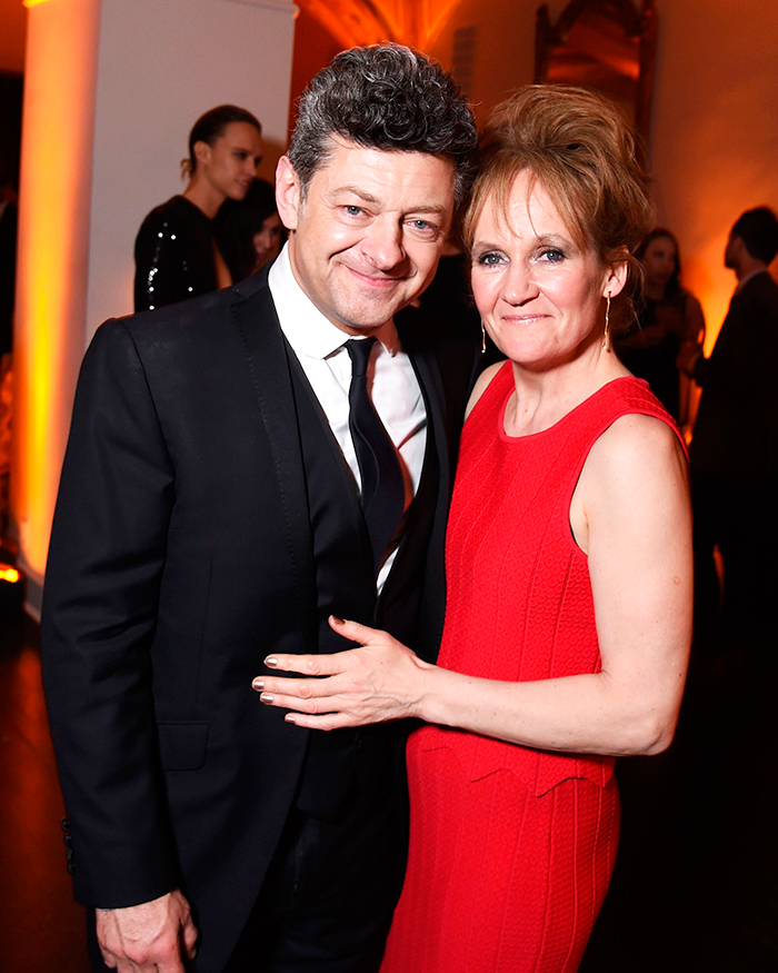 <p>Andy Serkis and Lorraine Ashbourne at the 20th Century Fox party.</p>