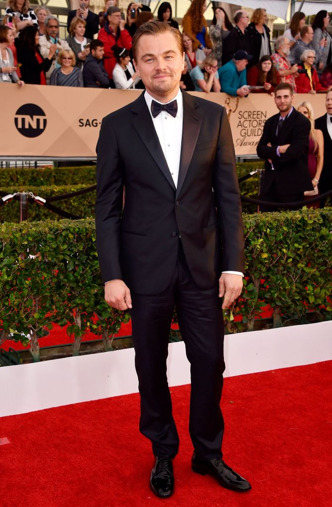 Mandatory Credit: Photo by Rob Latour/REX/Shutterstock (5577729bo) Leonardo DiCaprio The 22nd Annual Screen Actors Guild Awards, Arrivals, Los Angeles, America - 30 Jan 2016