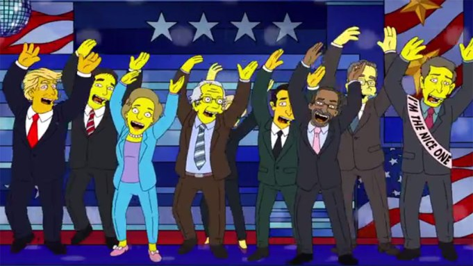 The Simpsons Presidential Candidates