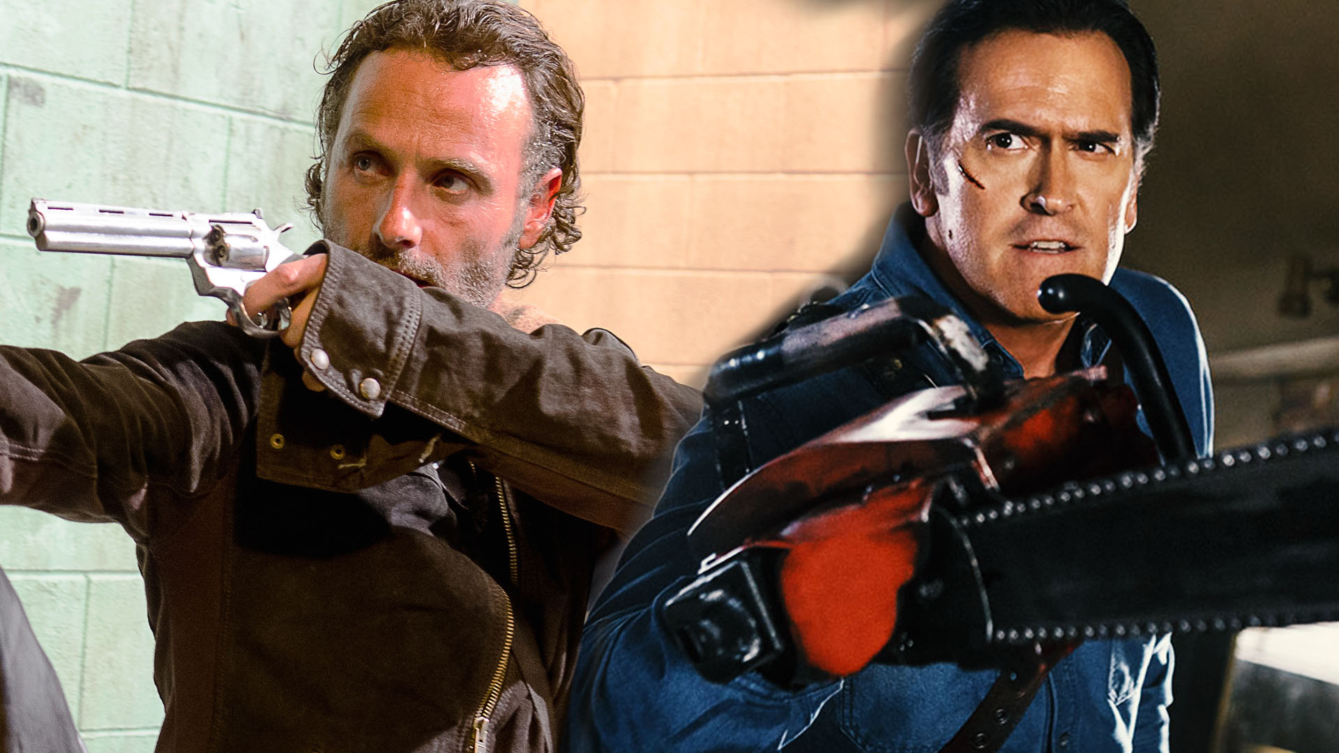 Walking Dead Vs Evil Dead Could Rick Grimes Beat Ash Williams In A Fight Variety