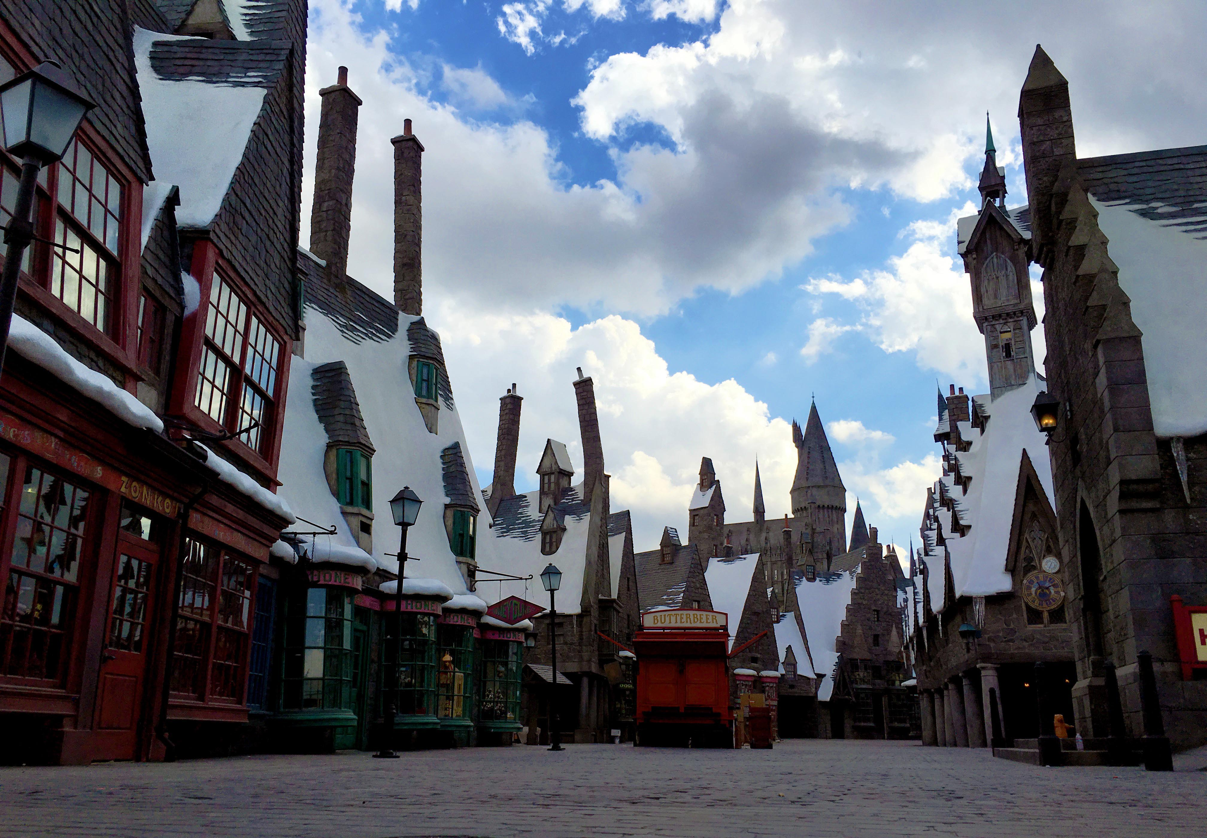 Hogsmeade village, and the Butterbeer cart