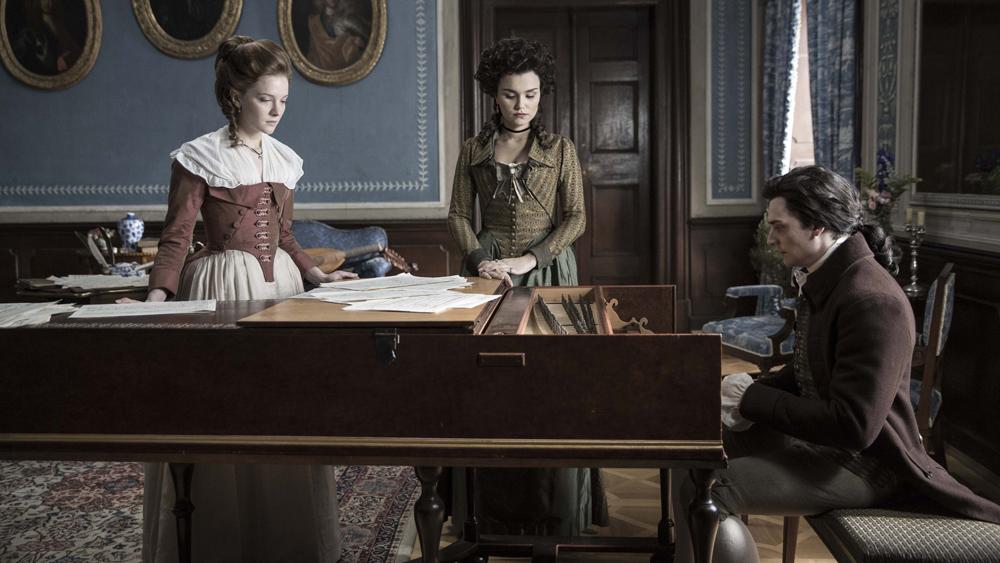 Zuzanna, Josefa and Mozart (Morfydd Clark, Samantha Barks and Aueurin Barnard)