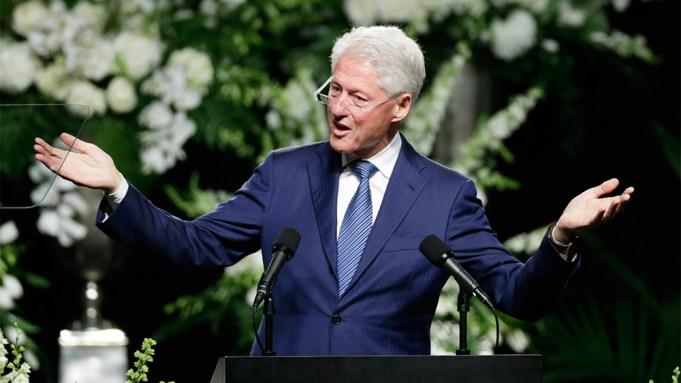 Bill Clinton Ali Funeral