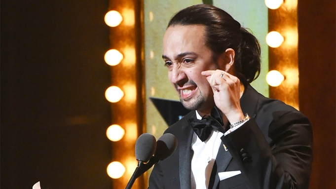 Lin-Manuel Miranda Tony Awards