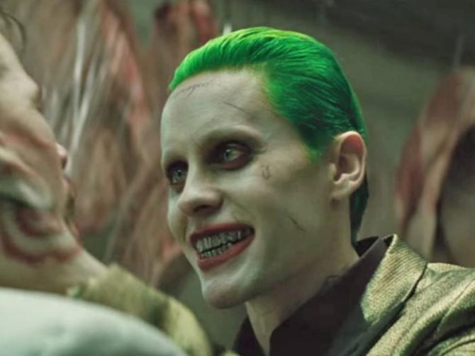 """If you're the bad guy in a movie full of bad guys, you're going to need to bring your demonic """"A game,"""" and that's just what Leto does — at least, in the early scenes of """"Suicide Squad."""" He's the first hip-hop Joker, with dead eyes and a mouth full of silver-capped teeth that turn his menacingly-switched-on-and-off smile into a gangsta grimace. He's the most coldly homicidal of all Jokers, and also, ironically, the first one to have a girlfriend (Margot Robbie's psychotic baby doll Harley Quinn). All in all, he's got a lot on his villainous plate, but the joke is on him: Leto's steely yet revved performance is just getting started when he's relegated to the sidelines, where no good Joker should ever be left to laugh alone."""