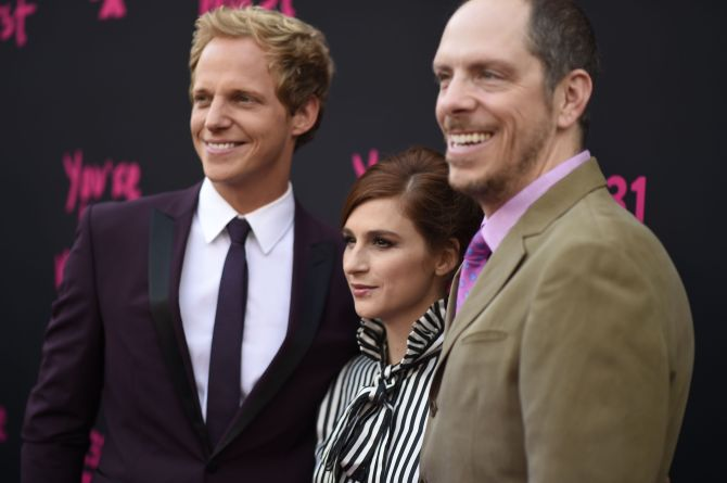 Mandatory Credit: Photo by Buckner/Variety/REX/Shutterstock (5848772k) Chris Geere, Aya Cash and Stephen Falk FXX's 'You're The Worst' film premiere, Los Angeles, USA - 28 Aug 2016