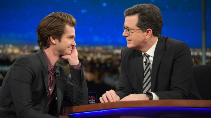 Andrew Garfield Stephen Colbert