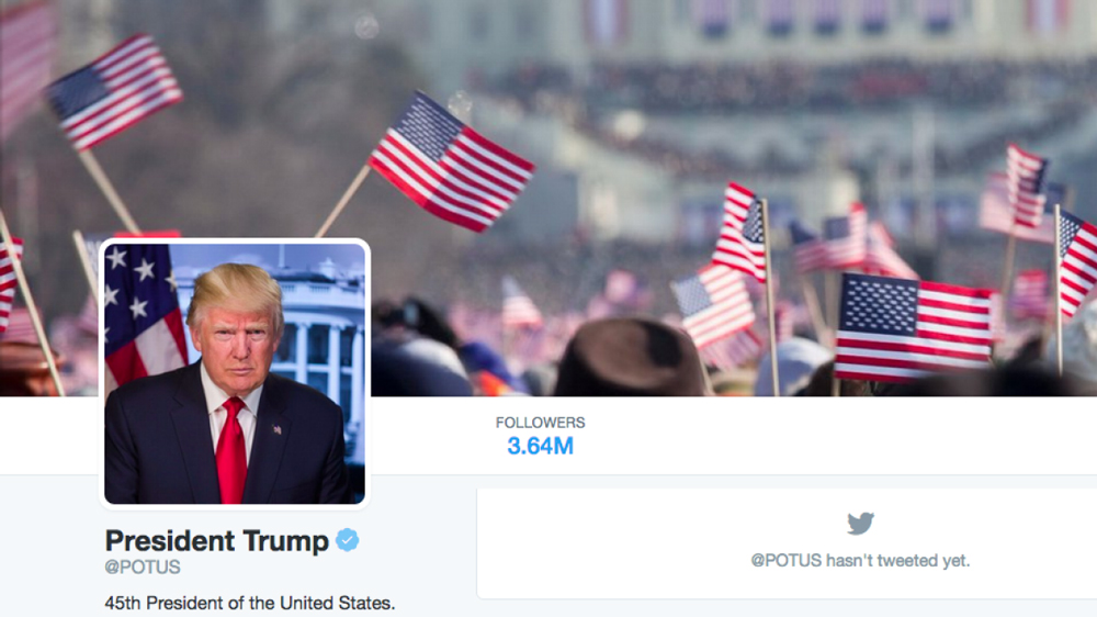 Trump Sends First Tweet As Potus Uses Obama Cover Photo Variety