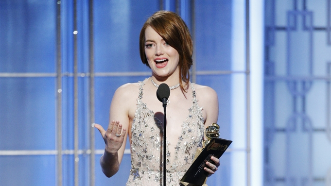 Emma Stone Golden Globe Win La