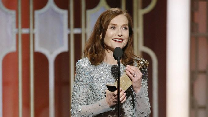 Isabelle Huppert Golden Globe Win