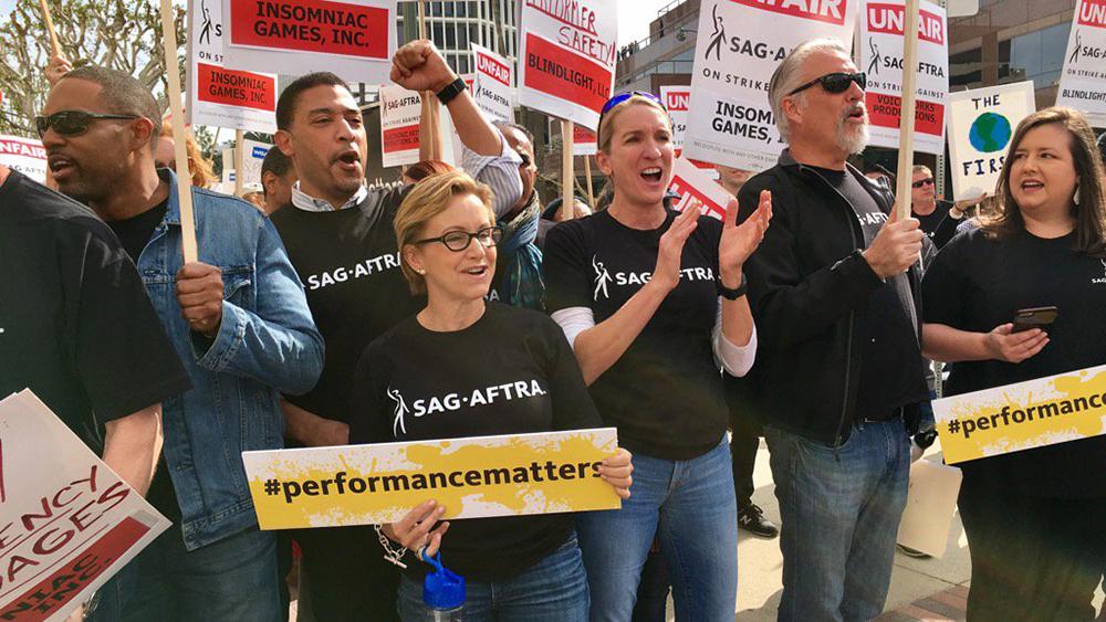 SAG AFTRA Protest